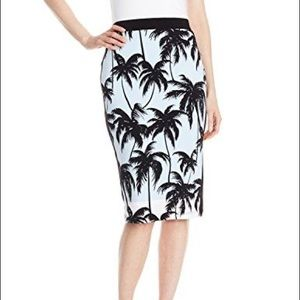 Vince Camuto Palm Tree Skirt
